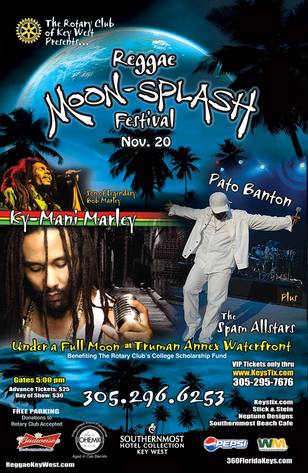 Reggae Moon Splash Key West Florida