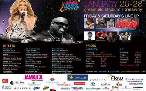 Jamaica Jazz and Blues line up