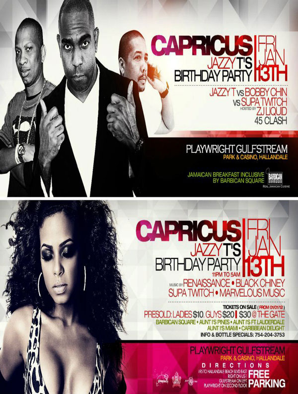 Capricus Jazzy T's B-Day Bash