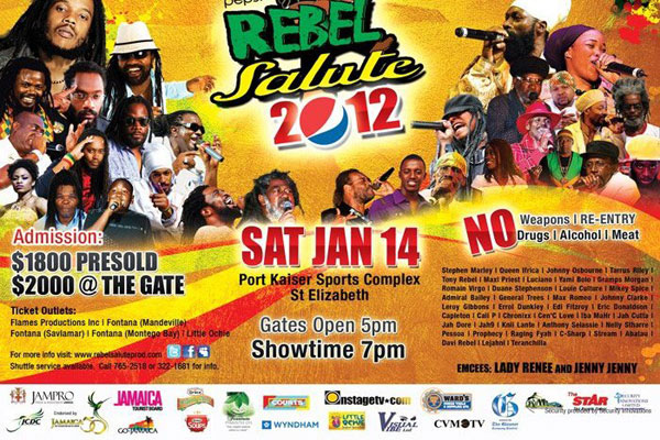 Rebel Salute 2012 Line Up