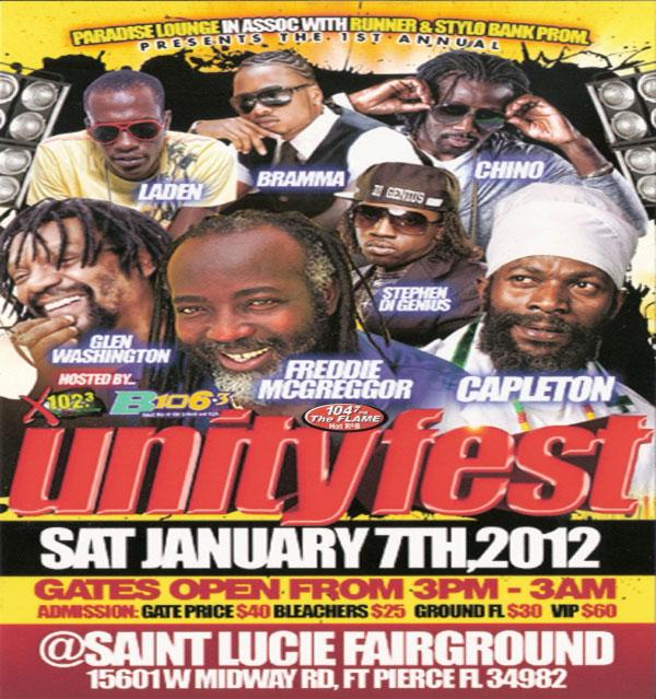 Unity Fest sat January 7th 2012