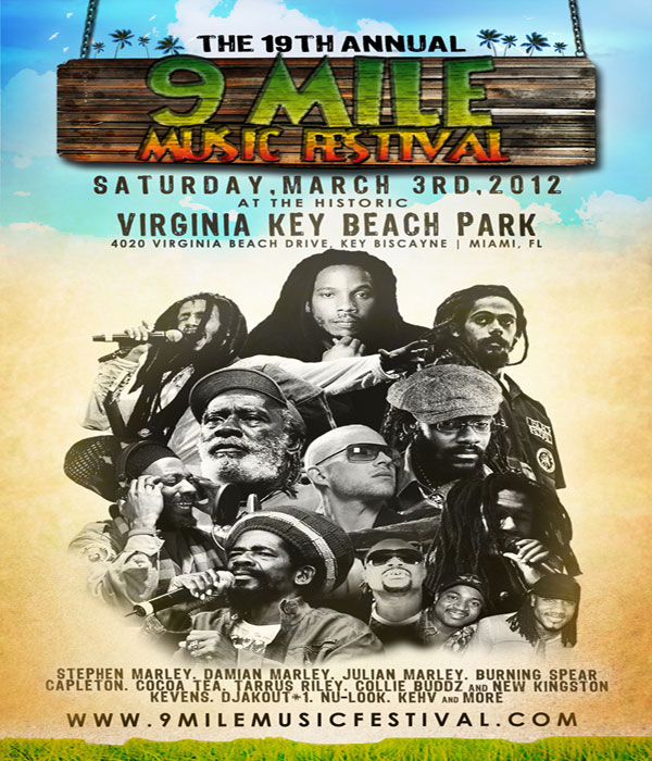 The 19th Annual 9 Mile Reggae Music Festival 2012