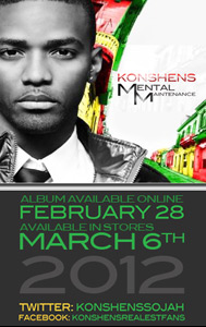 Konshens Mental Maintenance's Launch & Tour Dates