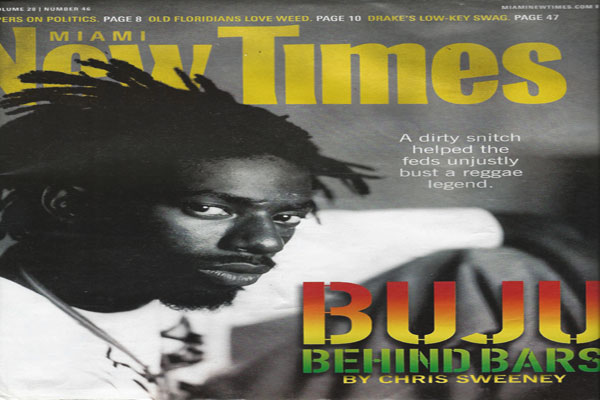 Buju Banton on the New Times Miami Cover feb 2012