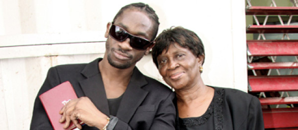 Bounty Killer with his mom Miss Ivy