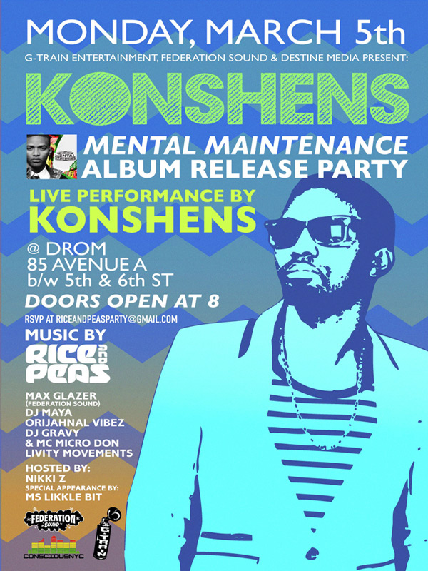 Konshens Nyc album party March 5 2012