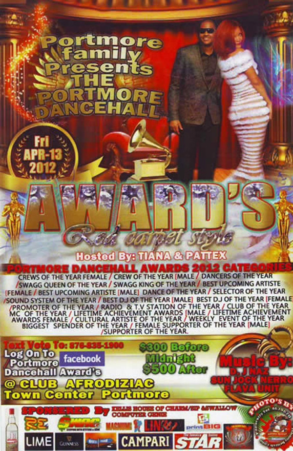 Portmore Dancehall awards with flava unit sound