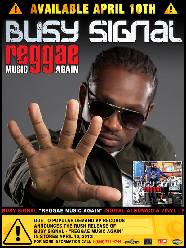 <strong>Busy Signal Album &#8211; Reggae Music Again</strong>
