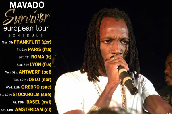 Mavado Touring Europe - Survivor Tour 2012