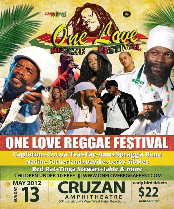 The One Love Reggae Festival Feat. Capleton, Spragga Benz, Cocoa Tea & More