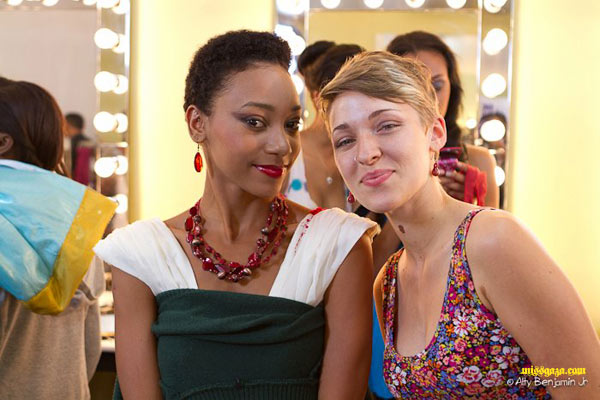 Rebecca with Abenah Gonzalez Mission Catwalk 2 april 2012