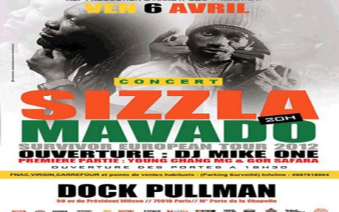 sizzla mavado live show dock pullman paris april 2012