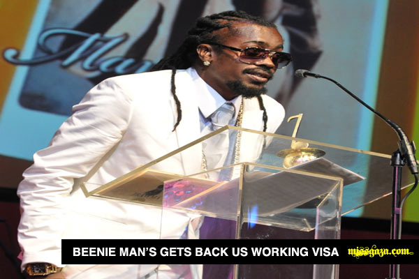 Beenie Man GETS BACK US working visa june 2012