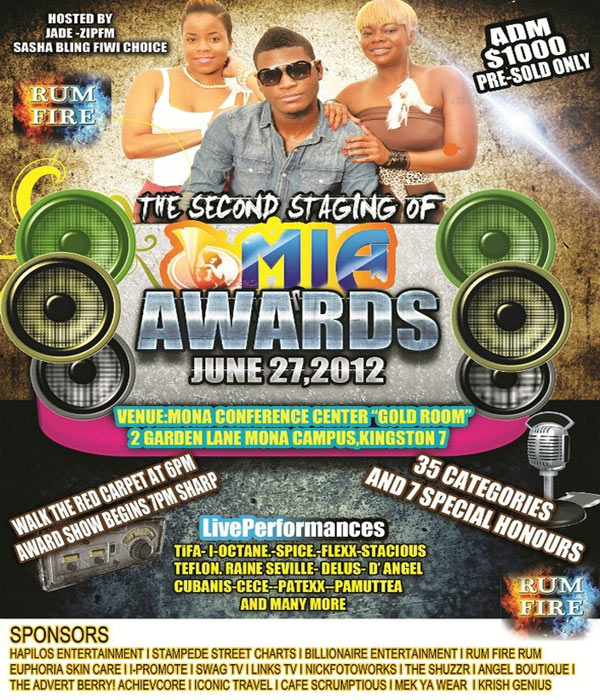 Music Industry Achievers Awards (MIA) June 27 Kingston