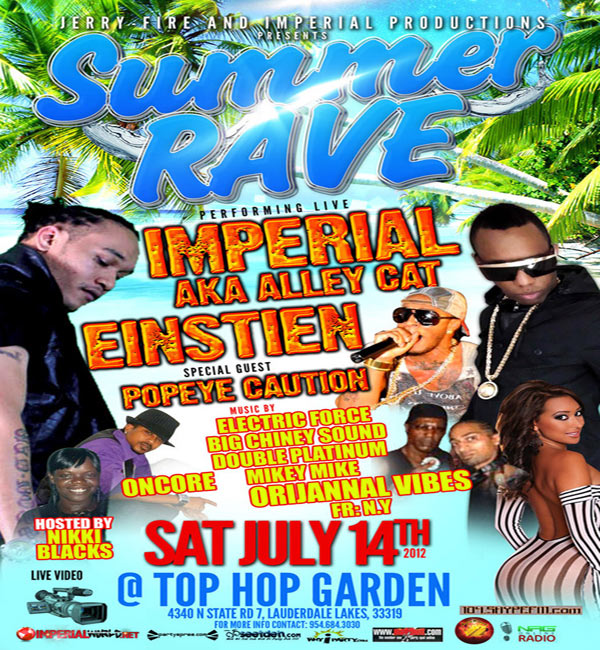 South Florida Summer Rave Dancehall Party With Imperial,Stein,Popeye Caution July 14 2012