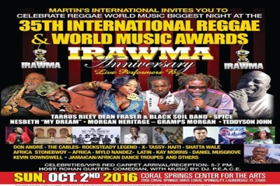 <strong>VYBZ KARTEL BEST MALE DJ &#8211; 35TH IRAWMA AWARDS 2016 &#8211; FULL LIST OF WINNERS</strong>
