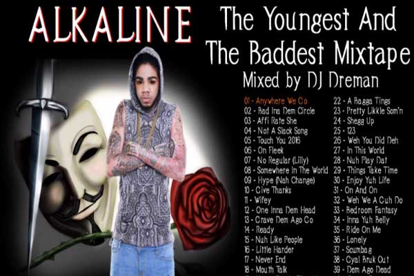 ALKALINE THE YOUNGEST AND THE BADDEST DANCEHALL MIXTAPE MARCH 2015