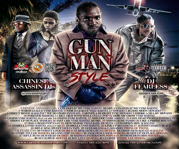 CHINESE ASSASSIN DJ FEARLESSGUNMANSTYLEDANCEHALL MIXTAPE NOV 2015