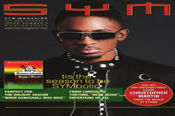 Christopher Martin On Cover of SYM Magazine & Acoustic NY Show Nov 28