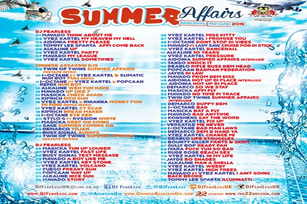 DJ-FearLess-&-Chinese-Assassin-Djs---Summer-Affairs-Dancehall Mixtape---Back