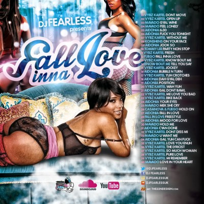 DJ FEARLESS – FALL INNA LOVE – DANCEHALL MIXTAPE – MARCH 2015