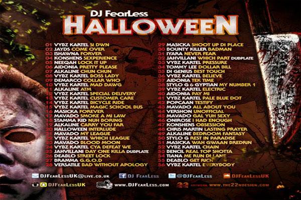 DJ FEARLESS HALLOWEEN MIXTAPE TRACKLIST 2015