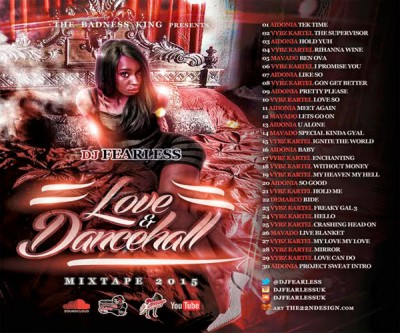 Download DJ FearLess – Love & Dancehall Mixtape (September 2015)