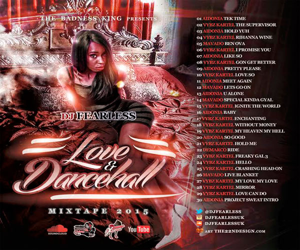 DJ FEARLESS LOVE & DANCEHALL FREE MIXTAPE SEPT 2015