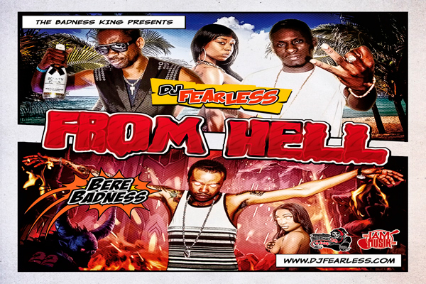 DOWNLOAD DJ FEARLESS – FROM HELL – DANCEHALL MIXTAPE APRIL 2013
