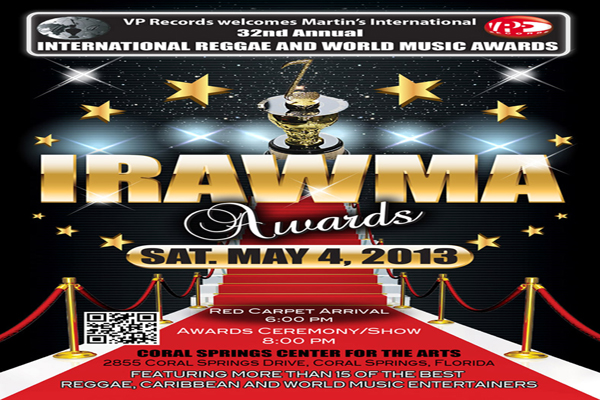 IRAWMA 2013 REGGAE & WORLD MUSIC AWARDS COMES TO CORAL SPRINGS