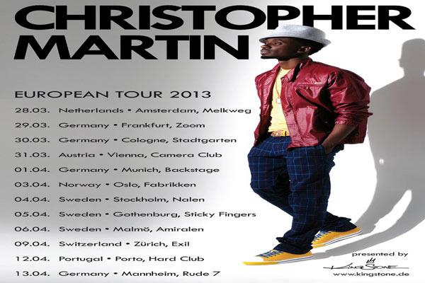 CHRISTOPHER MARTIN LINKAGE AWARDS SINGER OF THE YEAR,EUROPEAN TOUR 2013