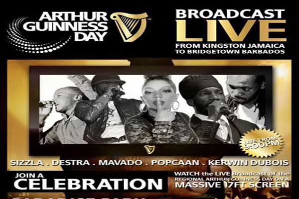 Popcaan,Sizzla, Mavado Performing Live @ Arthur Guinness Day Concert