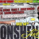 Konshens Live Friday Dec 14 South florida Feathers Ballroom