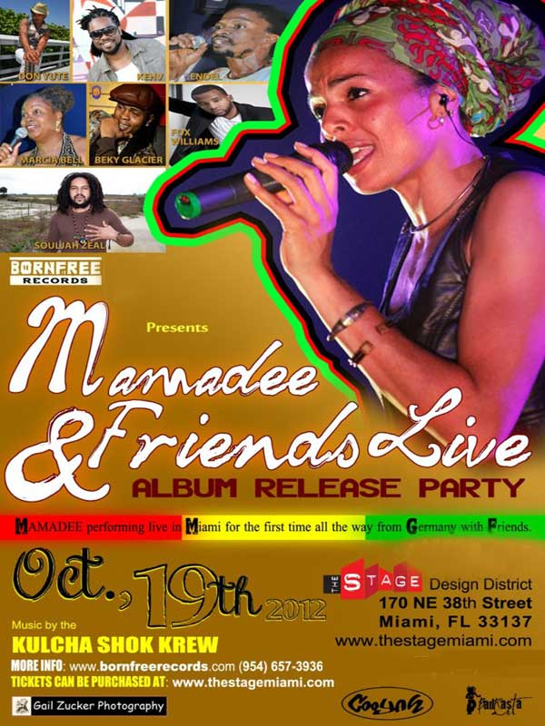 Mamadee friends Live Reggae Miami Oct 19 Stage