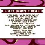 Mind Therapy Riddim-danger zone records-Jan 2013