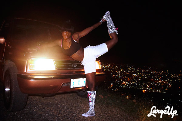 Dancehall Queen Likkle Bit Hilltop Bounce In Kingston