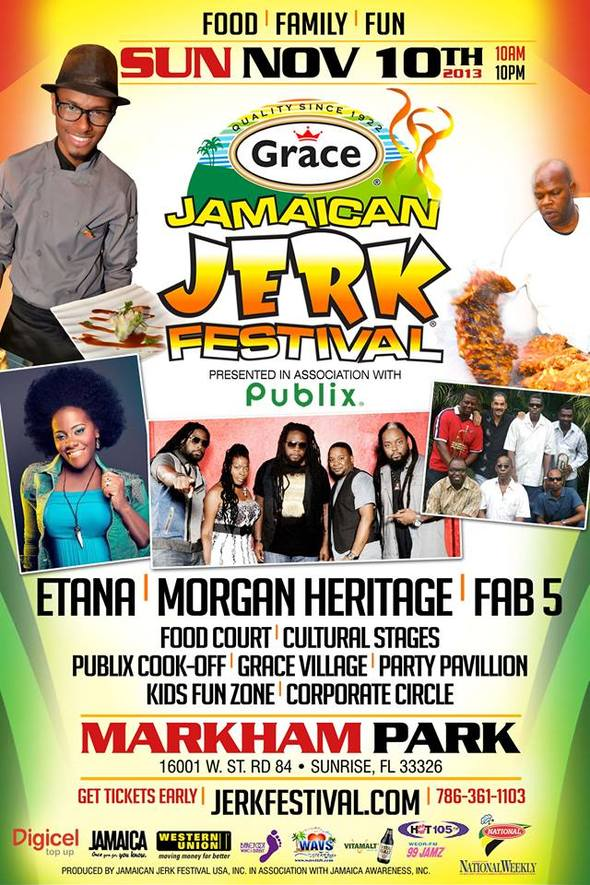 OLYMPIC CHAMPION HELPS KICKOFF GRACE JAMAICAN JERK WEEK IN SOUTH FLORIDA