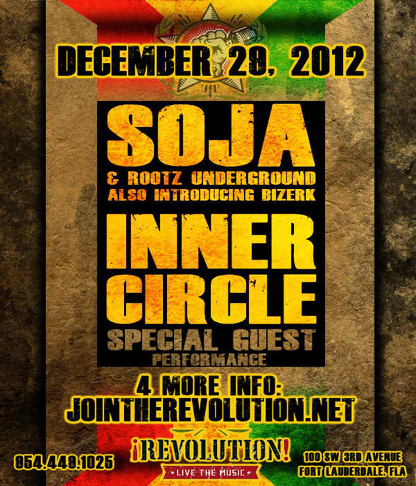 Reggae Bands Inner Circle, Soja, Rootz Underground Live In South Florida