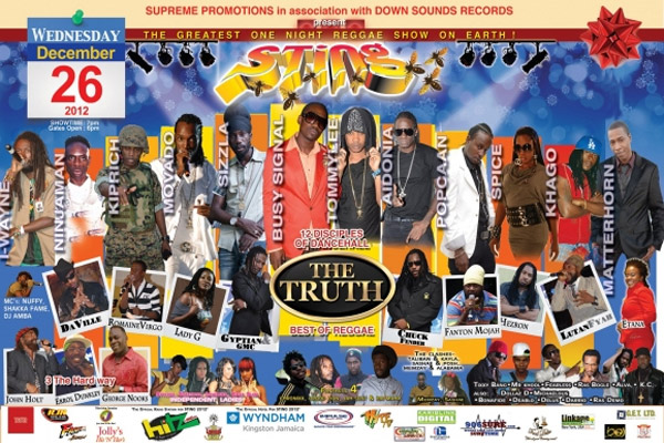 Sting 2012 Line Up – The Truth – 12 Disciples Of Dancehall