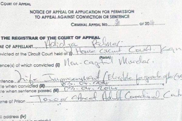 VYBZ KARTEL & CO -ACCUSED SIGNED APPEAL – APRIL 16 2014