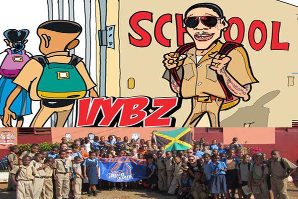 Vybz Kartel news-donates and refurbishs schools in jamaica