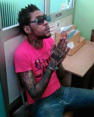 Vybz Kartel Being Escorted by Heavy Security From Hospital Back To Prison