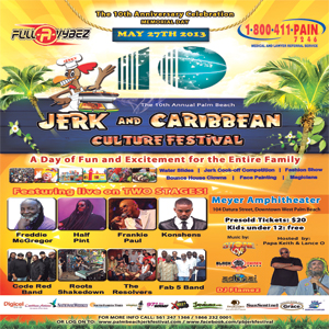 WEST PALM JERK FEST 2013 KONSHENS FREDDIE MC GREGOR HALF PINT LIVE MAY 27 2013