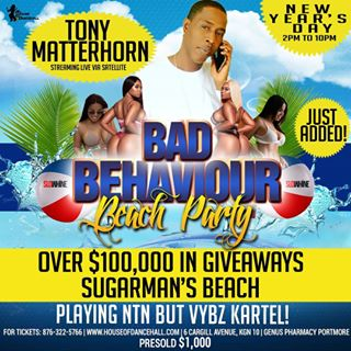 <strong>Tony Matterhorn Booked To Play Only Kartel&#8217;s Music In Portmore On January 1st 2018</strong>