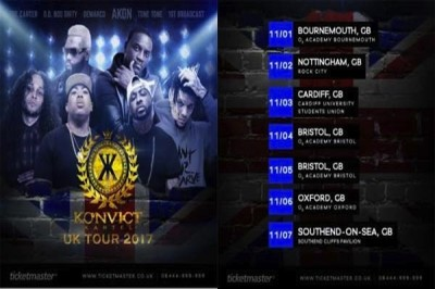 <strong>Demarco &#038; Akon &#8220;Konvict Kartel &#8221; UK Live Tour Dates 2017</strong>