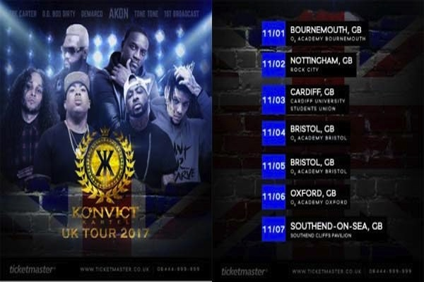 demarco akon konvict kartel uk tour dates 2017