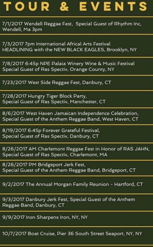 denroy morgan& the New black Eagles tour dates summer 2017