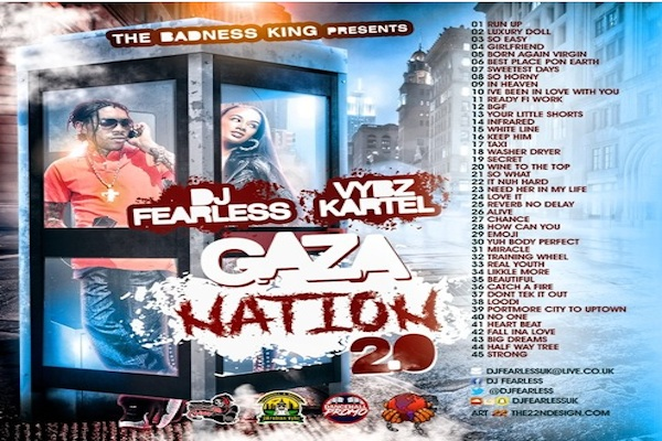 dj fearless vybz kartel gaza nation 2.0 free mixtape 2017