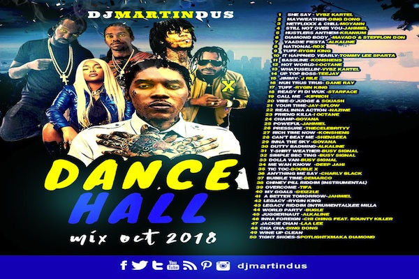 "Download DJ Martin Duss ""Dancehall Mixtape 2018″ Vybz Kartel, Mavado"