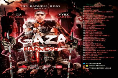 DJ FearLess – Vybz Kartel – Gaza Badness Mixtape (October 2015)